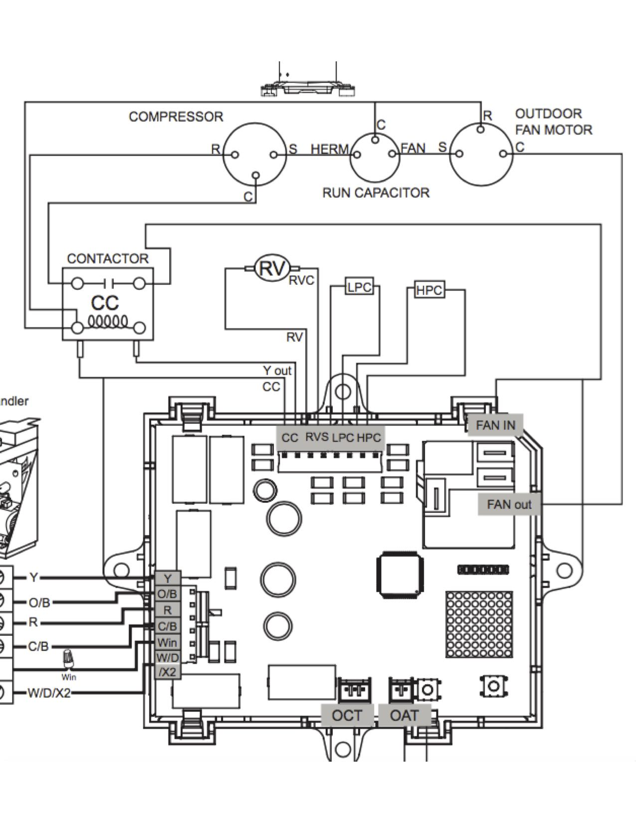 heat pump manual reversing valve