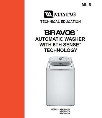 maytag bravos xl washer service manual