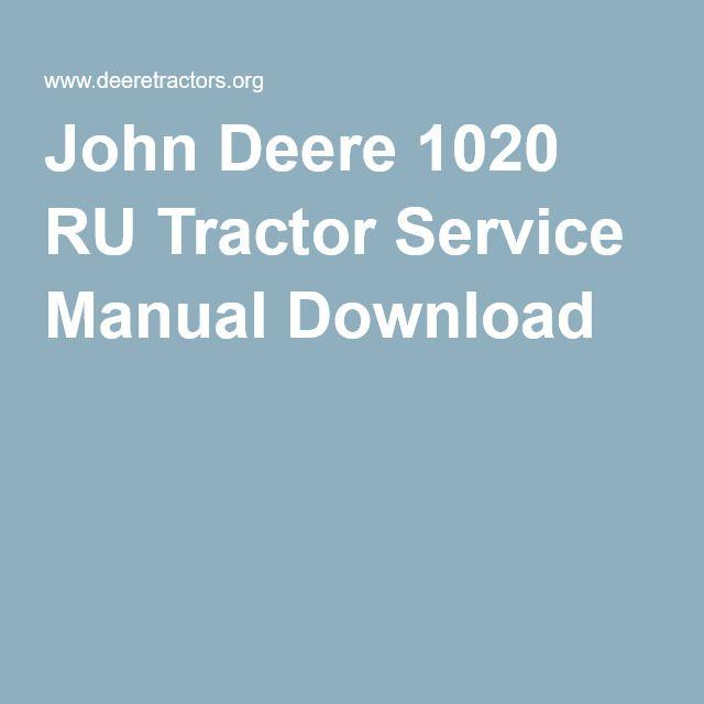 john deere 1020 service manual download