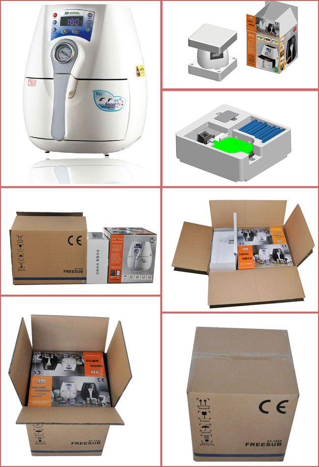 mini 3d sublimation vacuum heat press machine operation manual printe