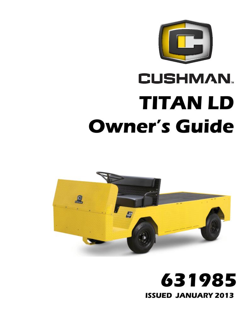 cushman titan xd parts manual