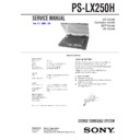 sony ps-lx250h manual pdf