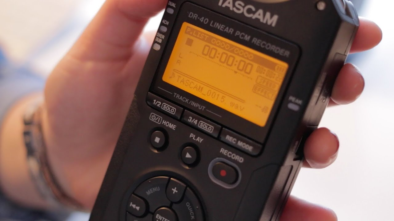 tascam dr-40 reference manual