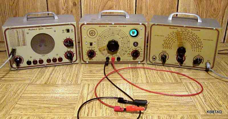 manual heathkit signal tracer t-2