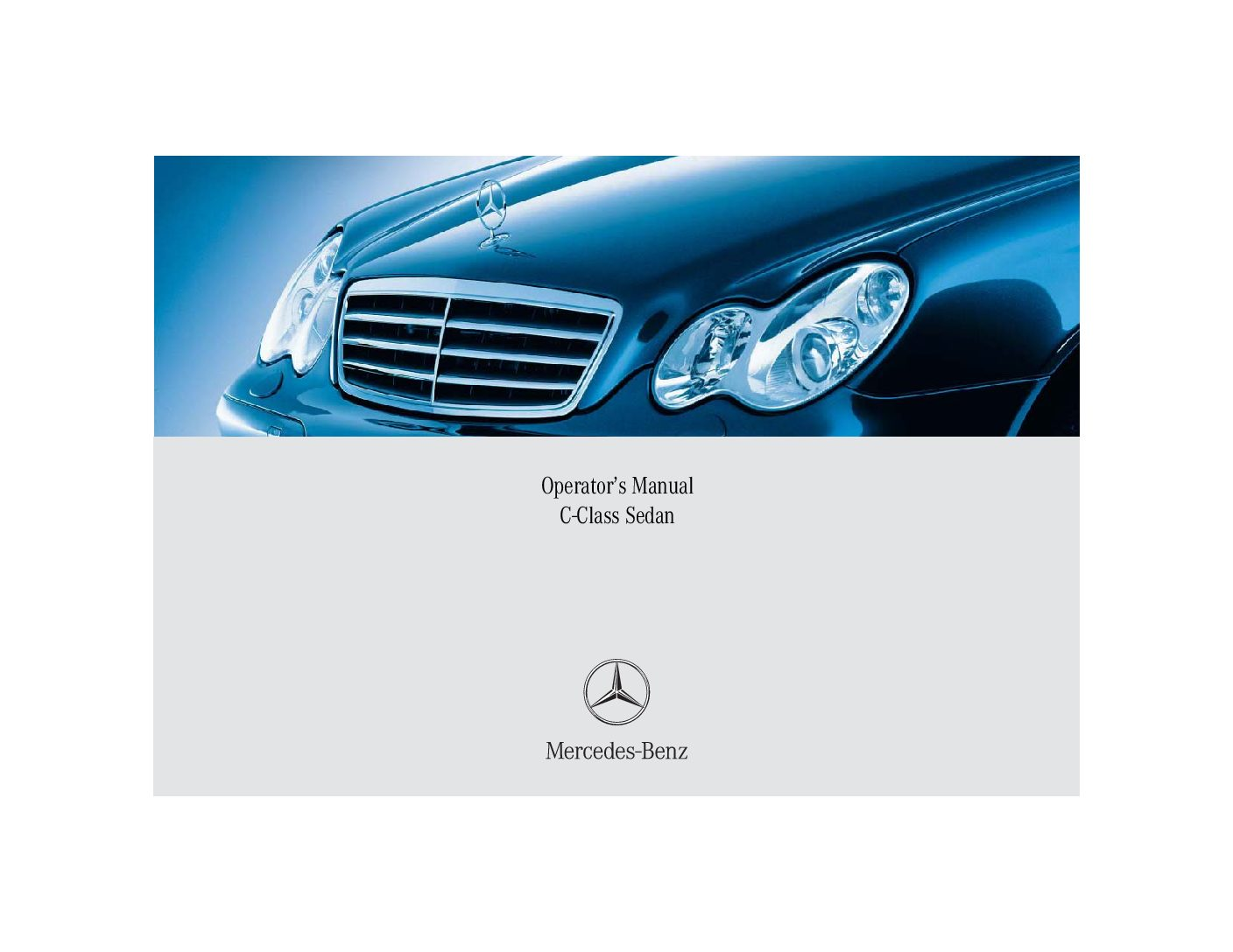 mercedes benz c class owners manual 2005