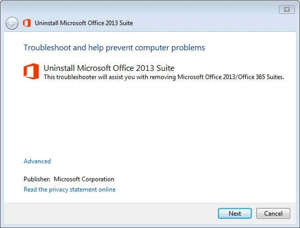 microsoft office professional plus 2013 manual removal