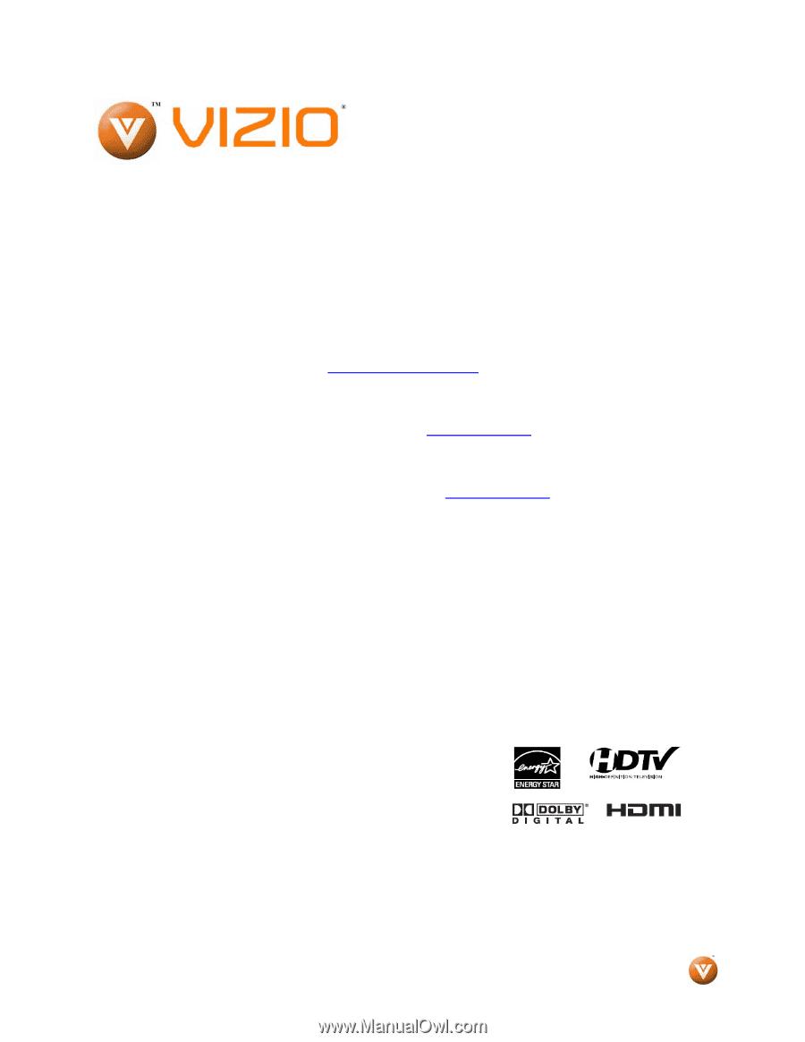 vizio e70-e3 user manual